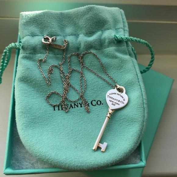 Tiffany Co Jewelry Return To Tiffany Heart Key Pendant And Chain Poshmark